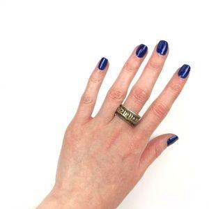 adjustable sterling silver arabic ring